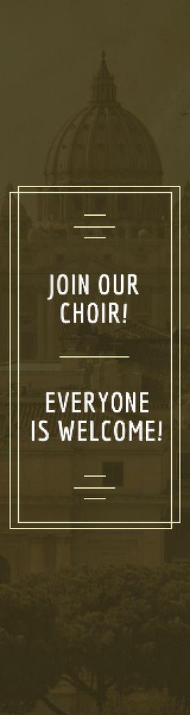 Church Choir Invitation Old Cathedral View — Crear un diseño