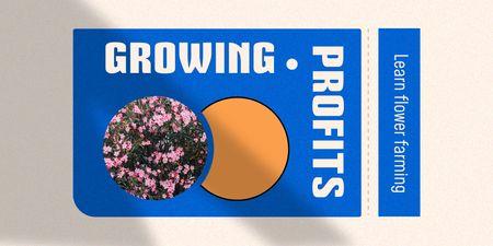 Flower Farming Courses Offer Twitter – шаблон для дизайну