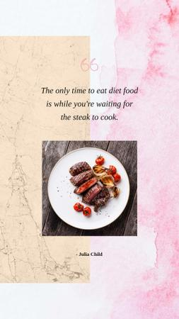 Template di design Grilled meat steaks and Quote Instagram Story
