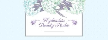 Beauty Studio Ad on Floral pattern