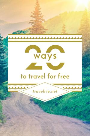 Travel Ideas with Scenic Mountain Road Pinterest – шаблон для дизайну