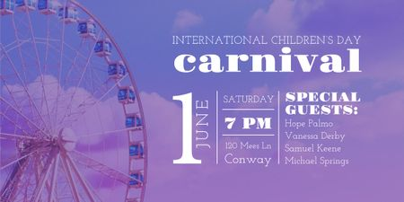 Designvorlage Carnival in International Children's Day  für Image
