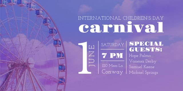 Carnival in International Children's Day  Image Design Template