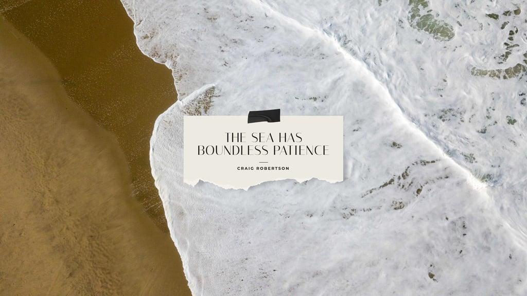 Sea wave on sandy Beach — Create a Design