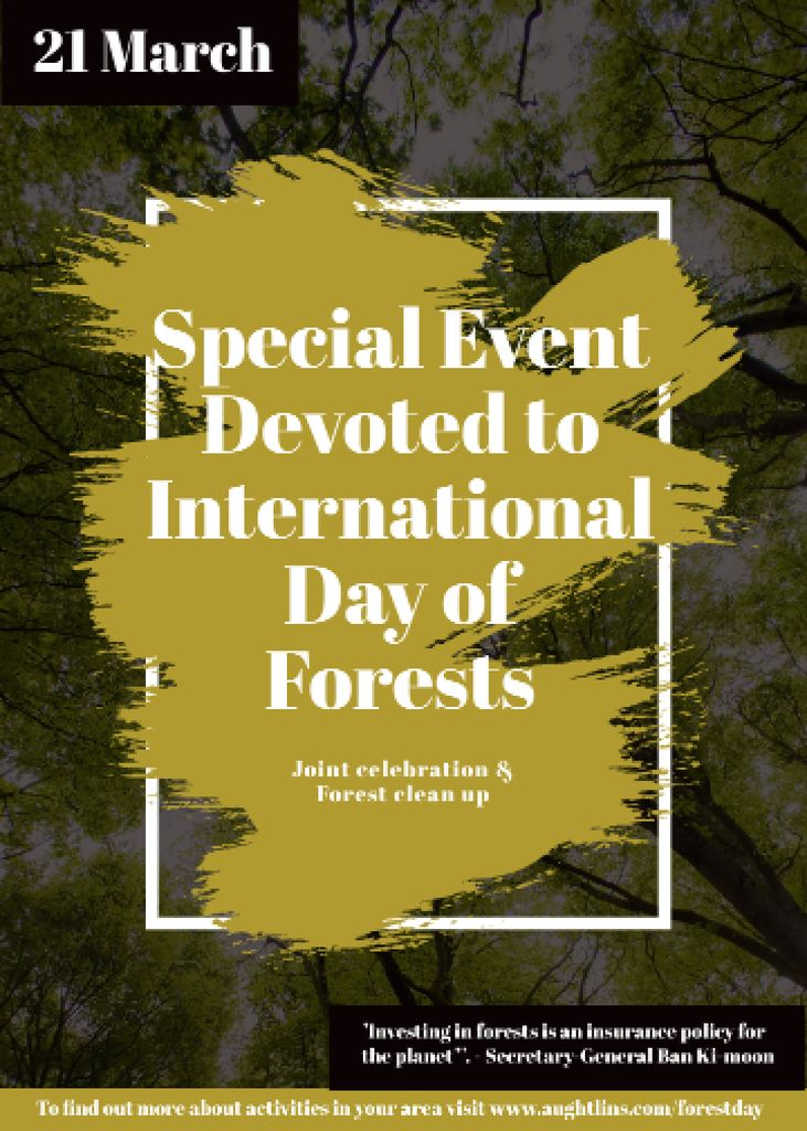 International Day of Forests Event Tall Trees — Maak een ontwerp