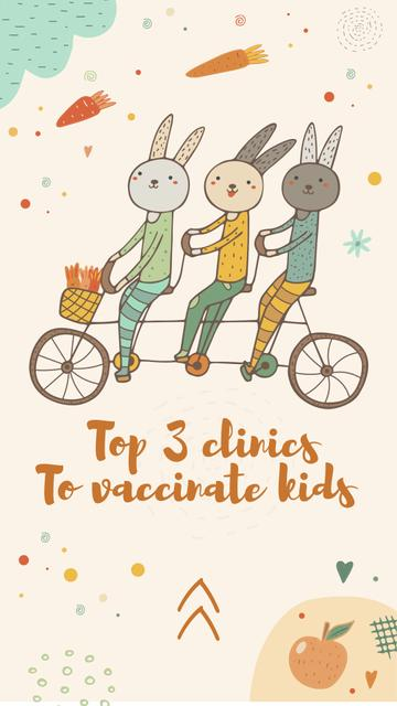 Template di design Clinic promotion with Bunnies on Bicycle Instagram Story