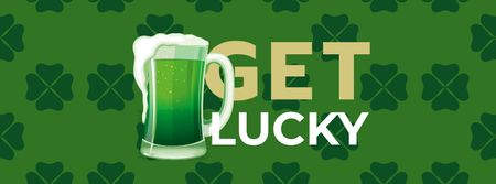 Plantilla de diseño de St. Patrick's Day with Green Beer Facebook cover