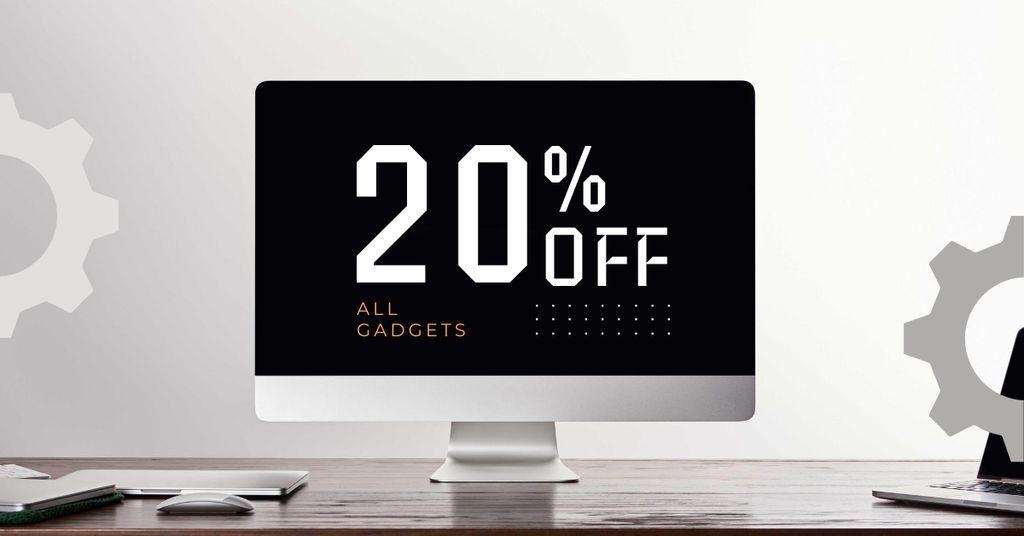 Gadgets Sale with Black Monitor Screen — Modelo de projeto