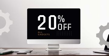 Gadgets Sale with Black Monitor Screen