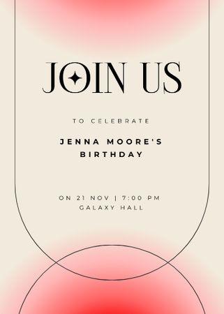 Birthday Party Celebration Announcement Invitation Modelo de Design