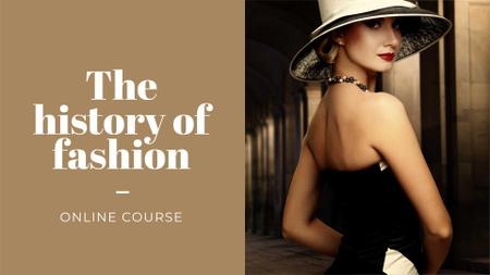 Modèle de visuel Fashion Online Course Announcement with Elegant Woman - FB event cover