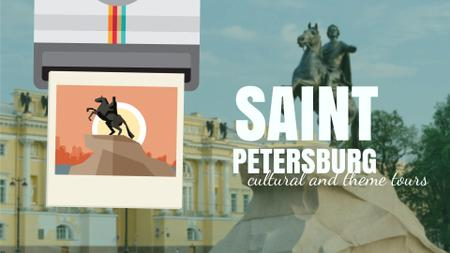 Designvorlage Saint Petersburg the Bronze Horseman Travelling Spot für Full HD video