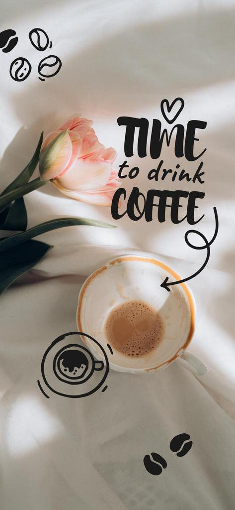 Cup with Coffee and flower — Создать дизайн