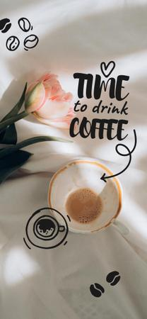 Plantilla de diseño de Cup with Coffee and flower Snapchat Geofilter