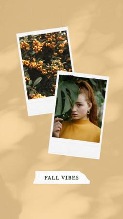 Autumn Inspiration with Cute Young Girl Instagram Video Story Modelo de Design
