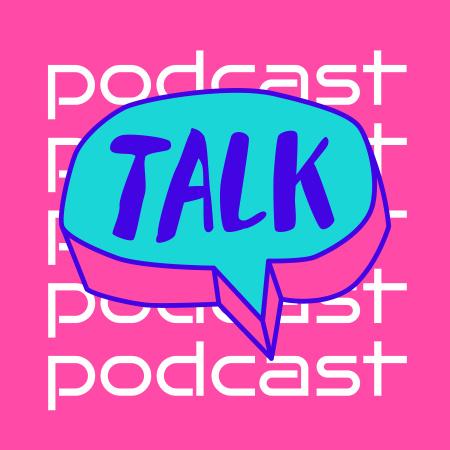 Plantilla de diseño de Podcast Topic Announcement with Speech Bubble Podcast Cover