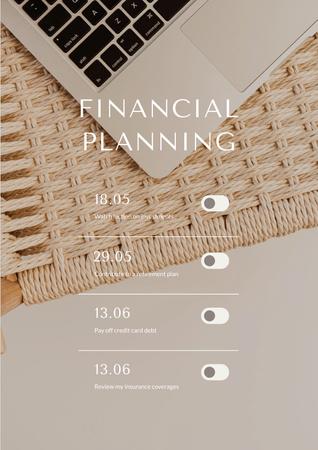 Plantilla de diseño de Finance Planning schedule Poster