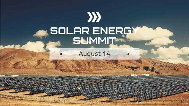 Energy Supply with Solar Panels FB event cover Modelo de Design