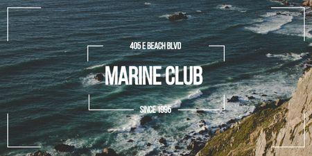 Designvorlage Marine Club ad with Scenic Coast für Image