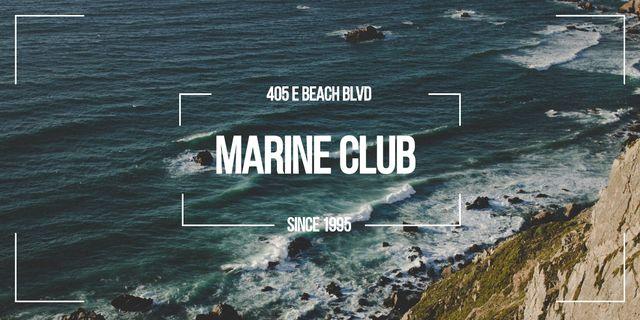 Modèle de visuel Marine Club ad with Scenic Coast - Image