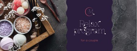 Template di design Relax Program for Couple Offer Facebook cover
