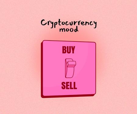 Ontwerpsjabloon van Facebook van Funny Joke about Cryptocurrency