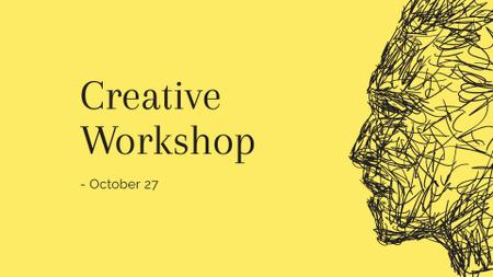 Ontwerpsjabloon van FB event cover van Creative Graphic Human Portrait