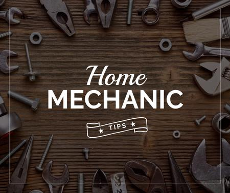 Szablon projektu Home Mechanic Tools and Equipment Facebook