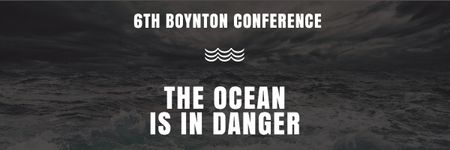 Plantilla de diseño de Boynton conference the ocean is in danger Email header