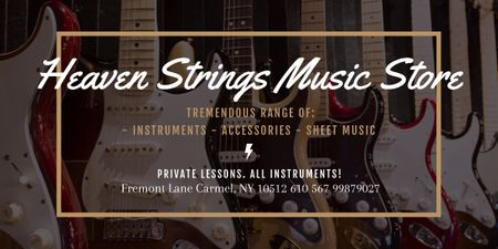 Heaven Strings Music Store Image Modelo de Design