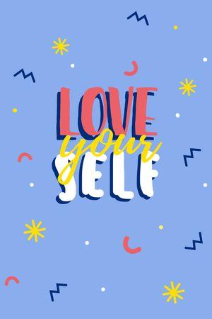 Self Love quote Tumblr tervezősablon