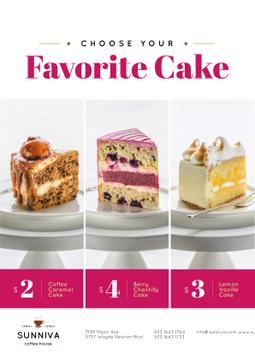 Bakery Ad with Assortment of Sweet Cakes
