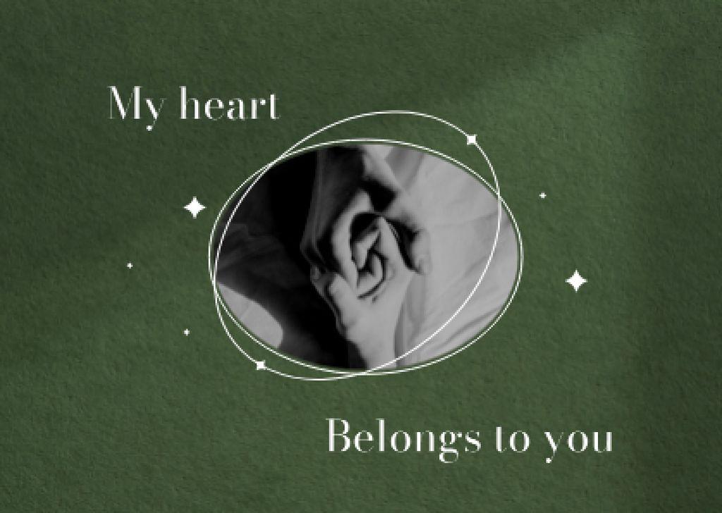Love Phrase with Couple holding Hands Card – шаблон для дизайна