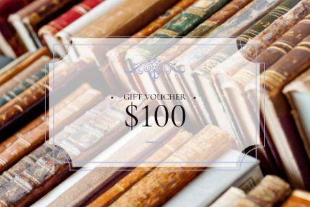 Plantilla de diseño de Gift voucher for bookstore Gift Certificate