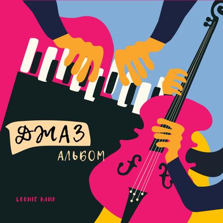 Musicians playing Jazz Album Cover – шаблон для дизайна