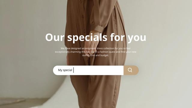Ontwerpsjabloon van Full HD video van Fashion Sale Woman Wearing Dress in Brown