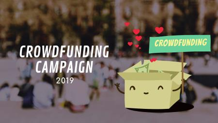 Plantilla de diseño de Crowdfunding Campaign Ad Money Filling Box Full HD video