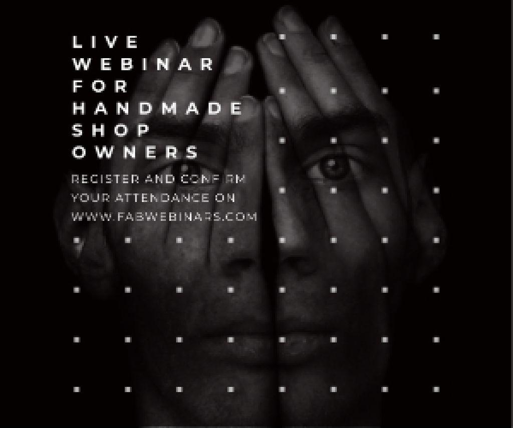 Live webinar for handmade shop owners Medium Rectangle Design Template