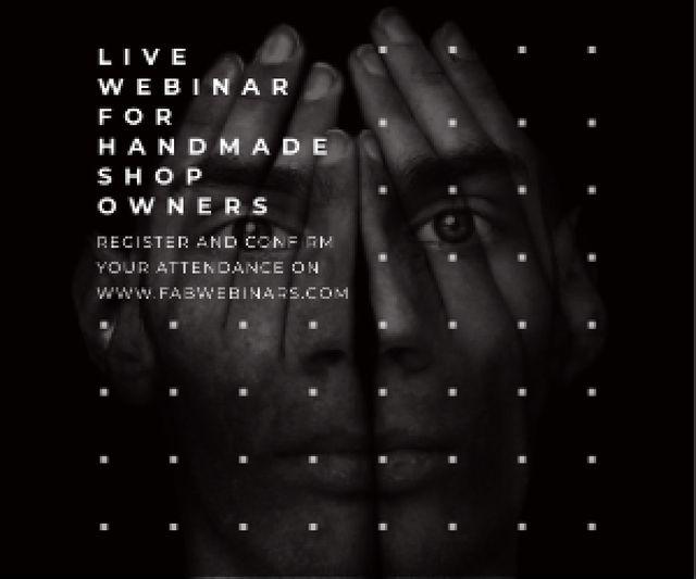 Live webinar for handmade shop owners Medium Rectangle Modelo de Design