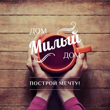 Woman holding Cup of Tea Instagram – шаблон для дизайна