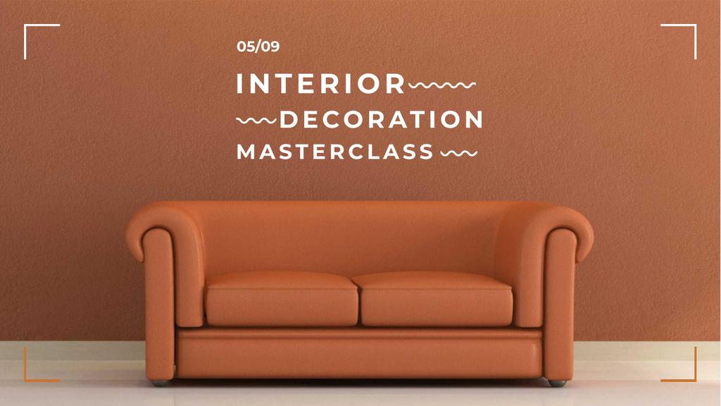 Plantilla de diseño de Interior decoration masterclass with Sofa in red FB event cover