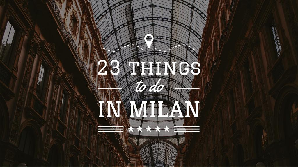 Milan Trip Inspiration Shopping Mall Gallery — Створити дизайн