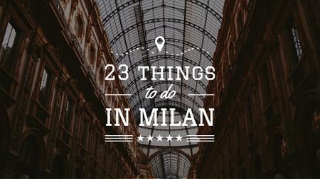 Plantilla de diseño de Milan Trip Inspiration Shopping Mall Gallery Youtube Thumbnail