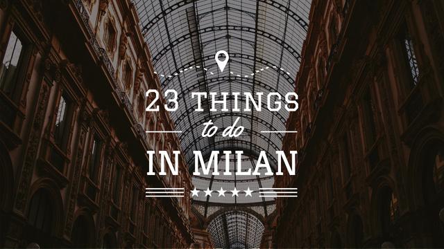 Plantilla de diseño de Milan Trip Inspiration Shopping Mall Gallery Youtube Thumbnail