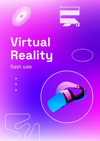 VR Equipment Flash Sale Ad Poster Modelo de Design