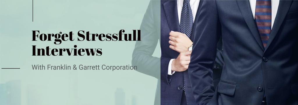 Modèle de visuel Business Interview Invitation Businessmen in Suits - Tumblr