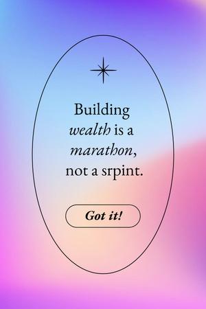 Wealth Inspirational Quote Pinterest Tasarım Şablonu
