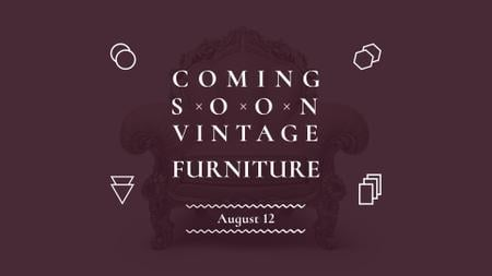 Plantilla de diseño de Antique Furniture Auction Luxury Armchair FB event cover