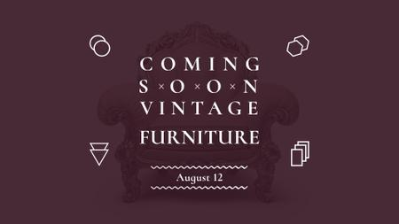 Ontwerpsjabloon van FB event cover van Antique Furniture Auction Luxury Armchair