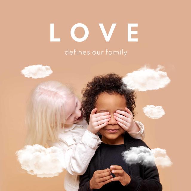 Modèle de visuel Cute little Multiracial Kids - Instagram